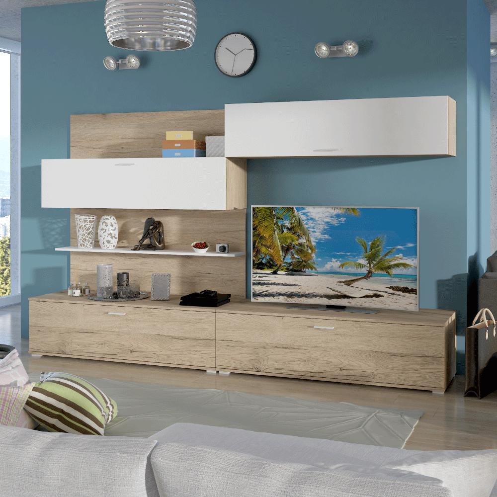 Variabilná obývacia stena, san remo/biela, SAIRA