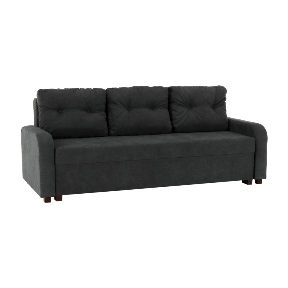 Canapea extensibilă, gri închis, PORTORIKO