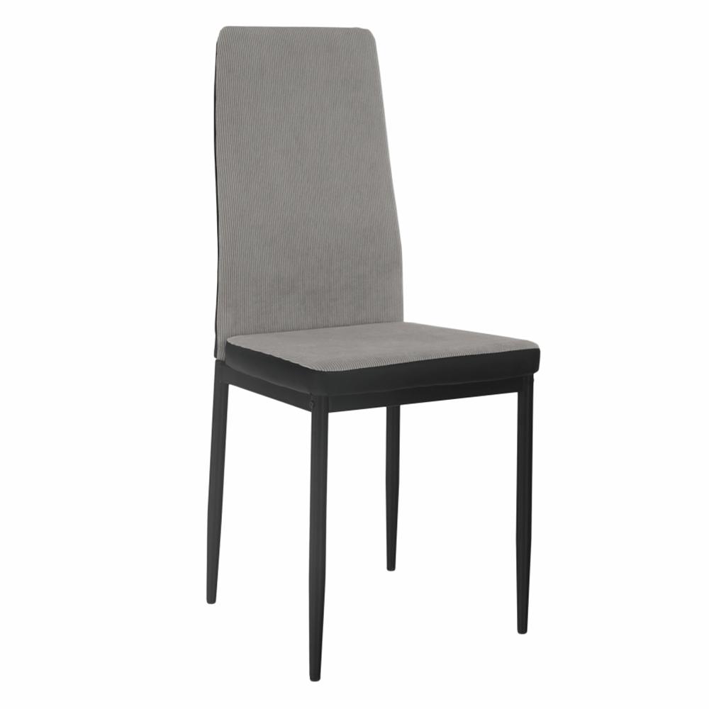 Jedálenská stolička, svetlosivá/čierna, ENRA