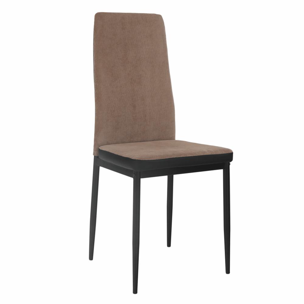 Jedálenská stolička, svetlohnedá/čierna, ENRA