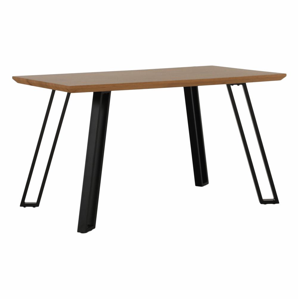 Jídelní stůl, dub/černá, PEDAL, TEMPO KONDELA