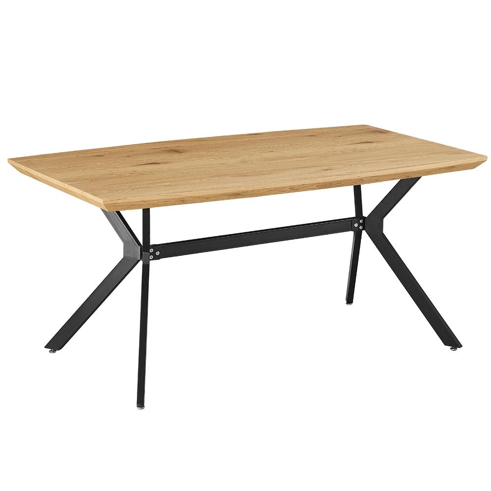 Étkezőasztal, tölgy/fekete, MEDITER