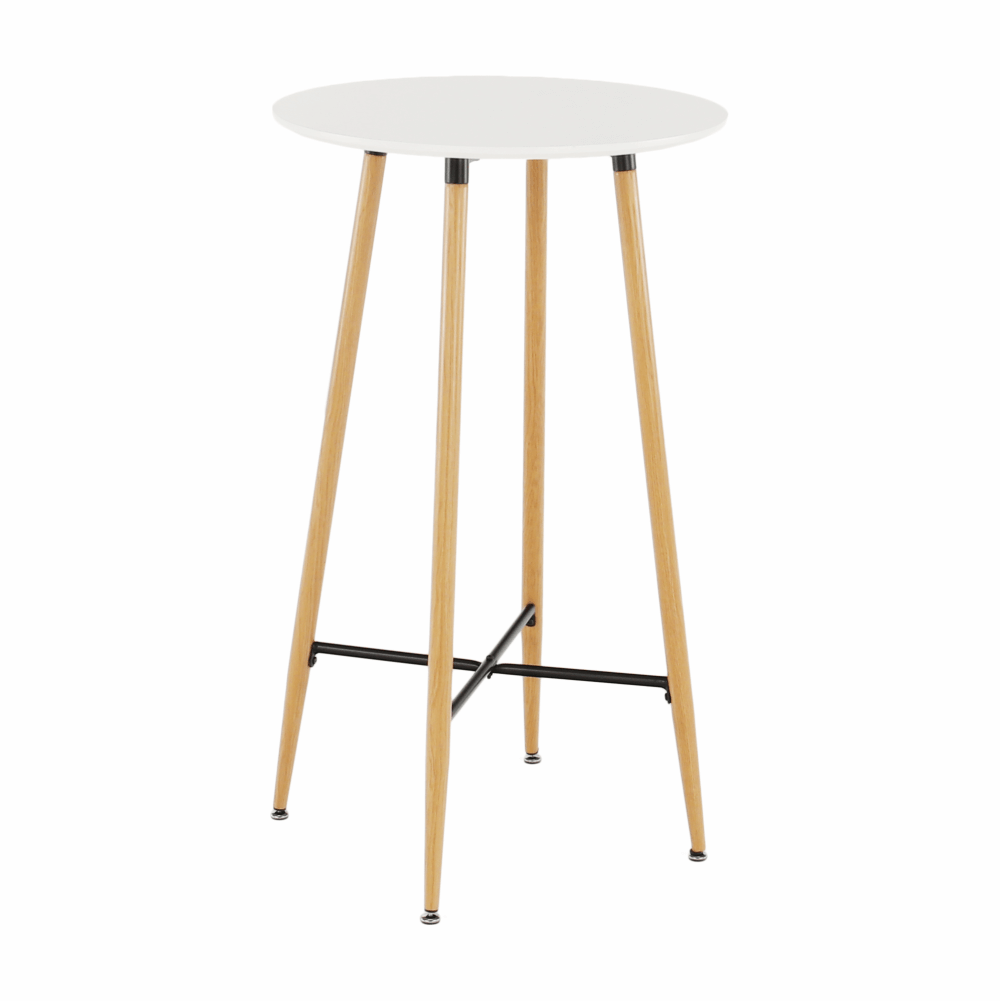 Barový stôl, biela/dub, IMAM