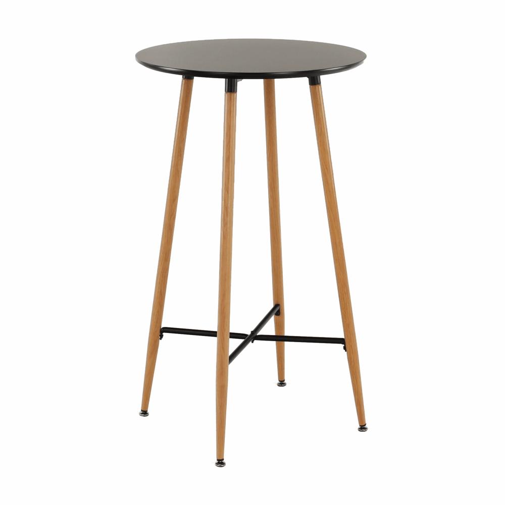 Barový stůl, černá/dub, IMAM, TEMPO KONDELA
