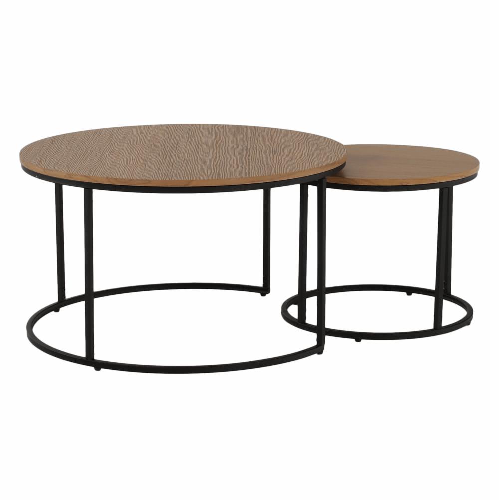 Set dvou konferenčních stolků, dub/černý, IKLIN, TEMPO KONDELA