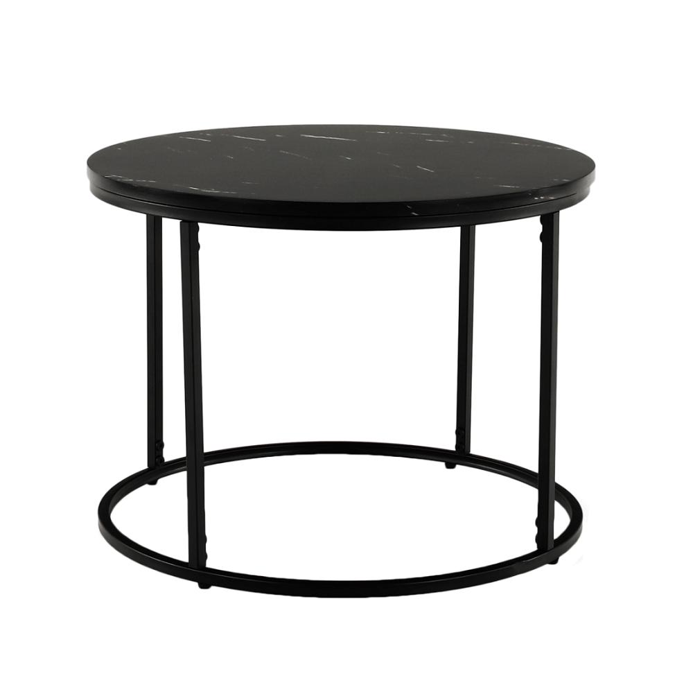 Dohányzóasztal, fekete márvány/fekete érc,GAGIN