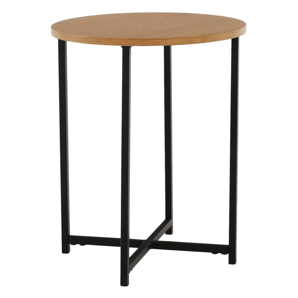 Příruční stolek, dub/černý kov, IMSAR, TEMPO KONDELA