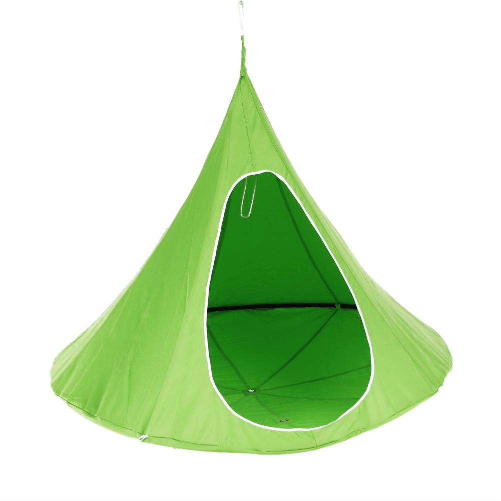 Závesné hojdacie kreslo, zelená, KLORIN NEW BIG SIZE CACOON HAMMOCK