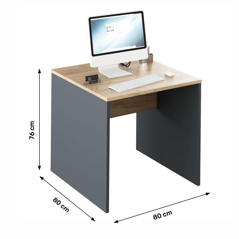 Psací stůl, grafit / dub artisan, RIOMA NEW TYP 17
