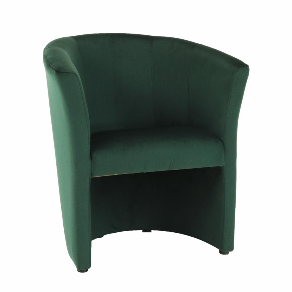 Klub fotel, smaragd anyag, CUBA