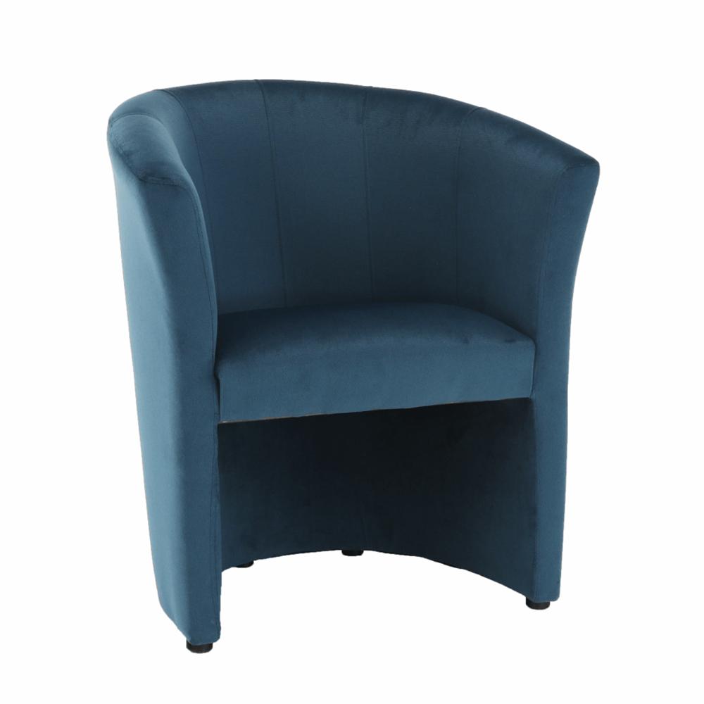 Klub fotel, kék anyag, CUBA