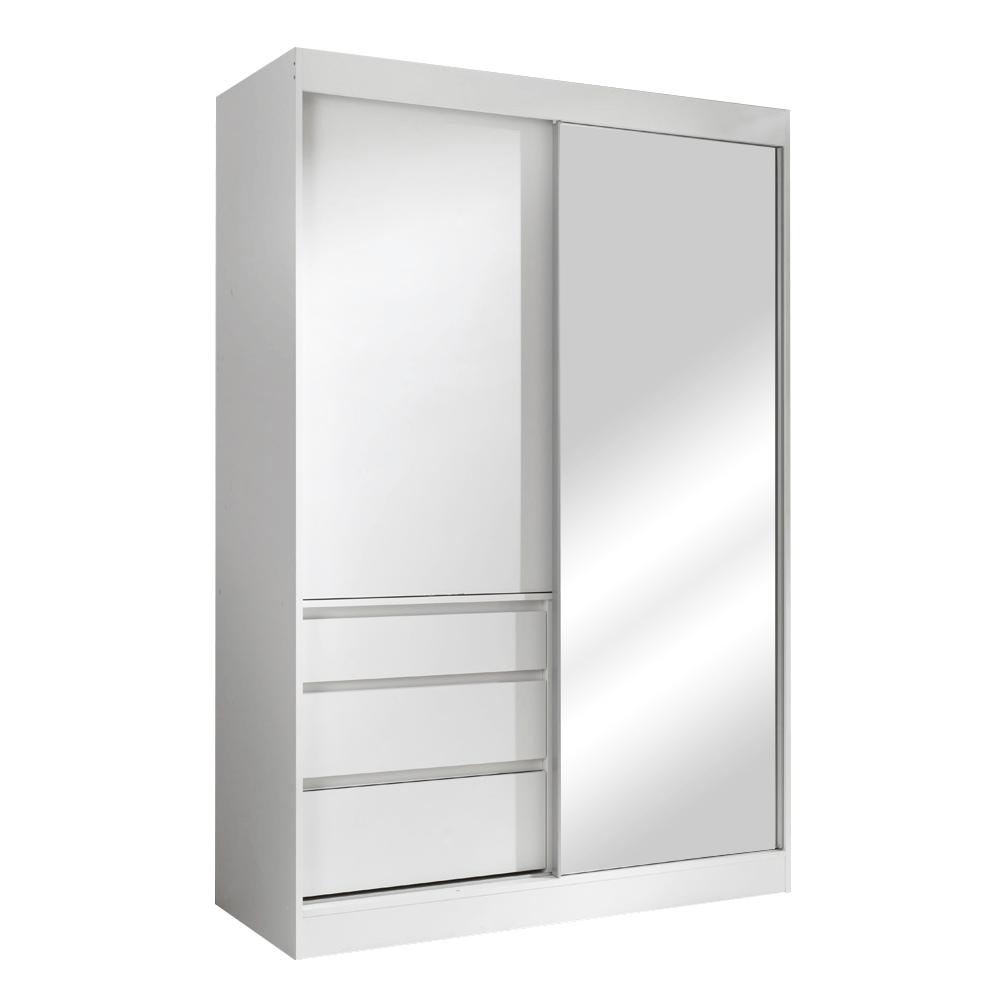 Skříň s posuvnými dveřmi, bílá, 140, ROMUALDA, TEMPO KONDELA
