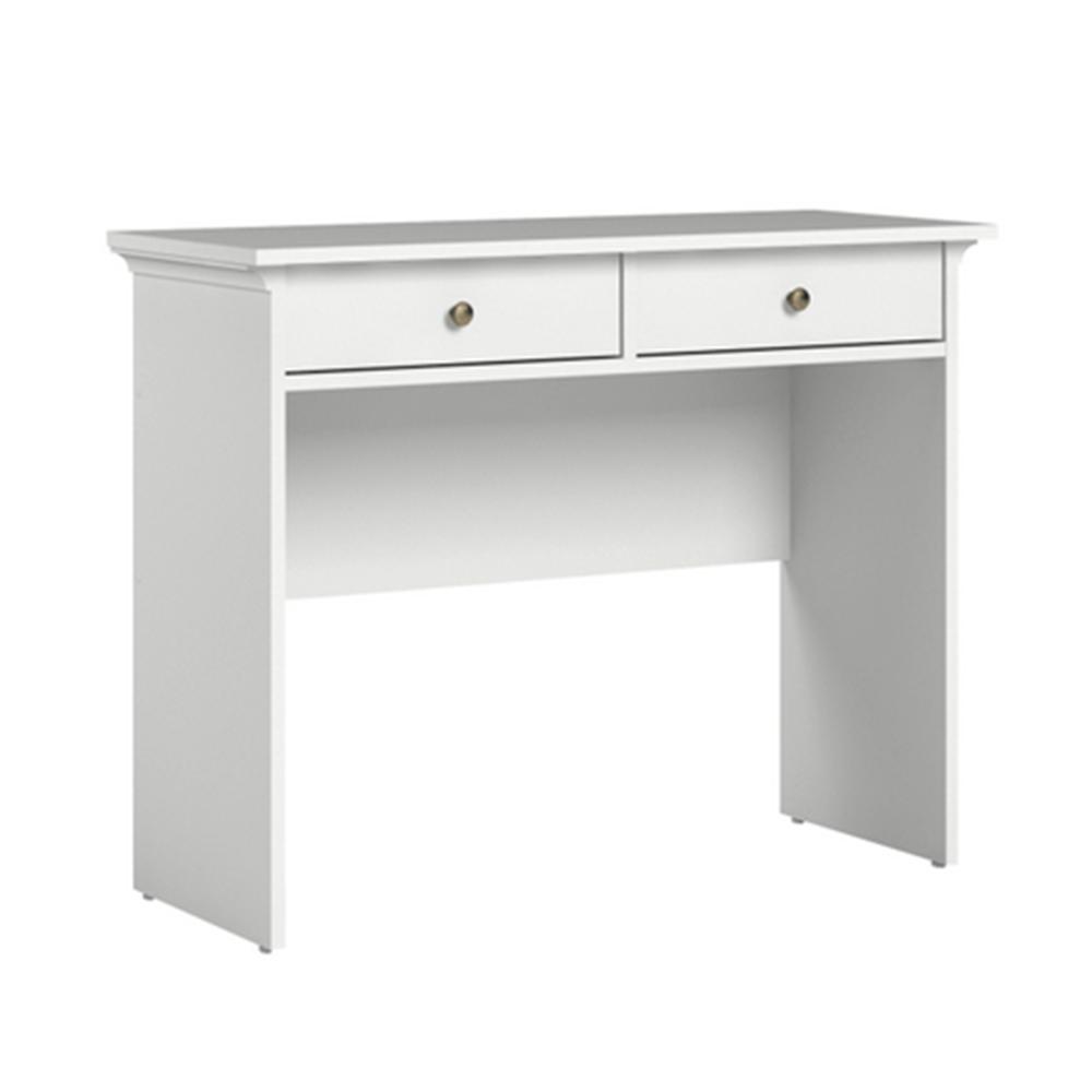 Konzolový stolík, biela, PARIS