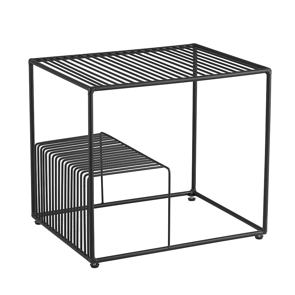 Príručný stolík, čierna/kov, WILOV