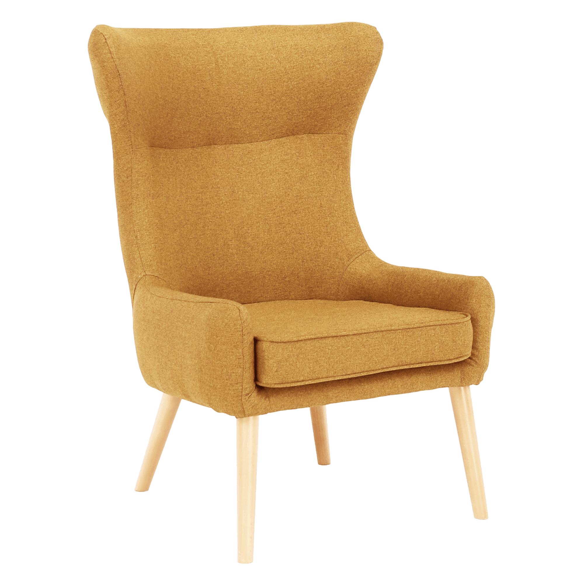 Füles fotel, mustár/bükkfa, FADOR