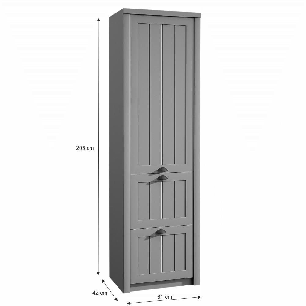 Věšáková skříň S1D2S, šedá, PROVANCE