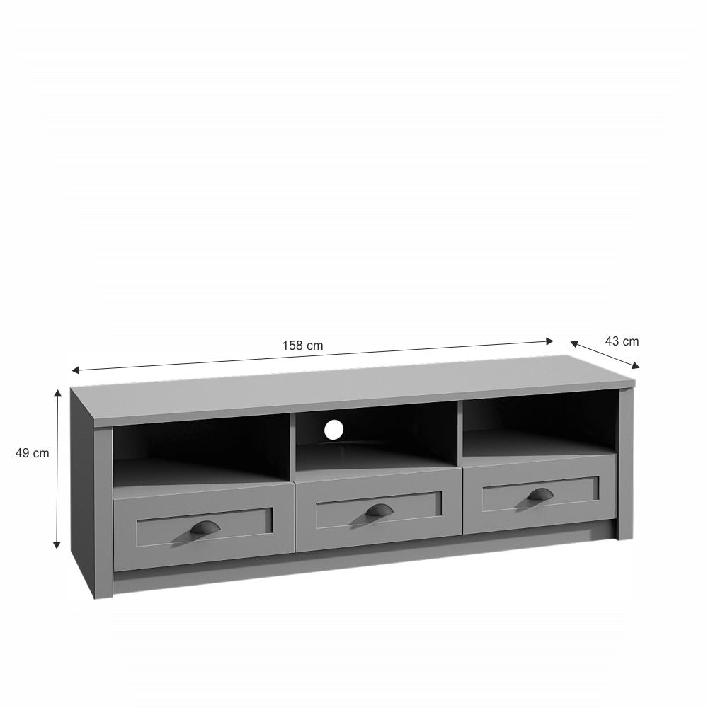 RTV stolek, šedá, PROVANCE
