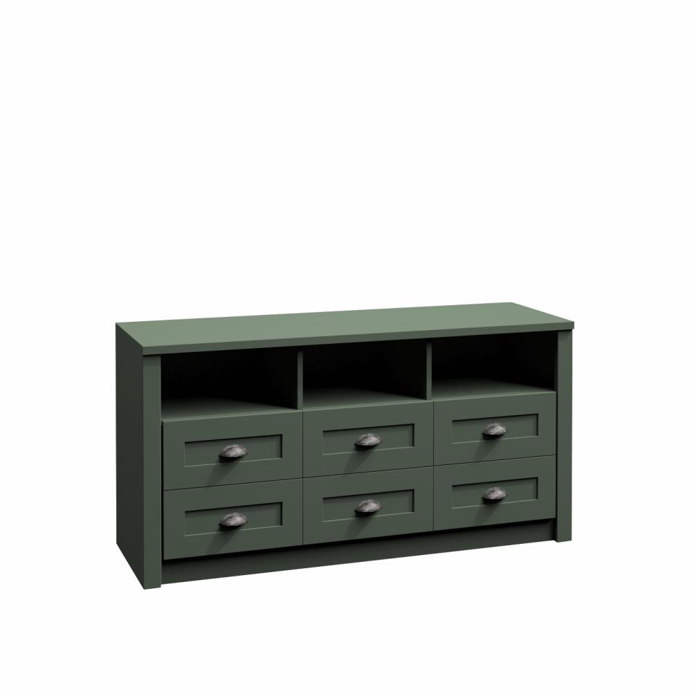 Komód, zöld, PROVANCE K6S
