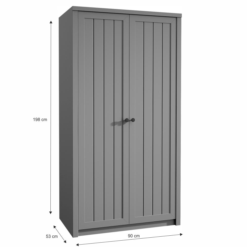 Skříň S2D, šedá, PROVANCE