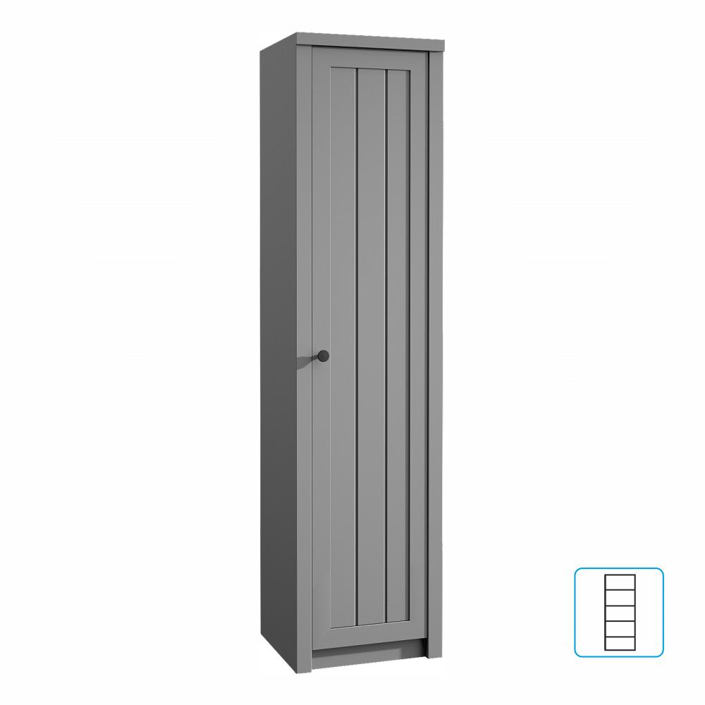 Skříň S1D, šedá, PROVANCE