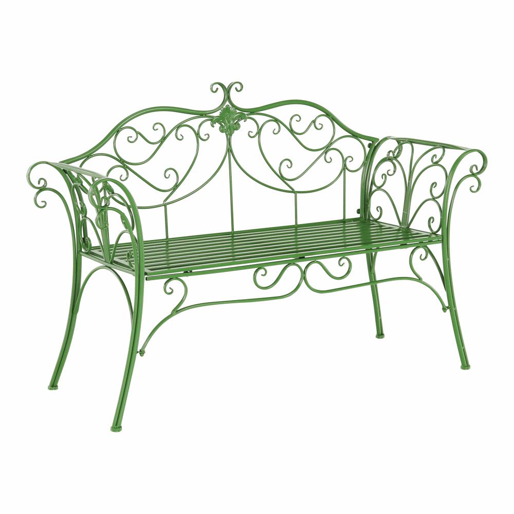 Záhradná lavička, zelená, ETELIA