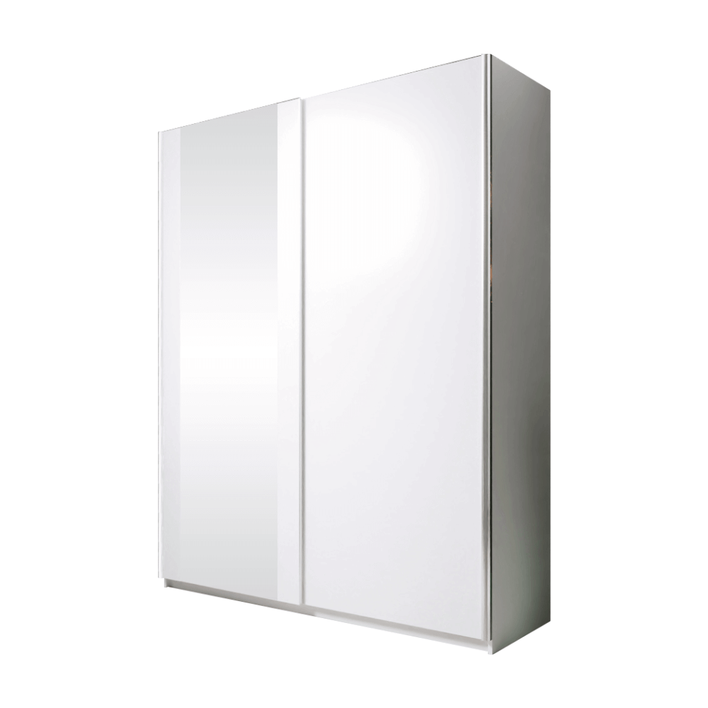 Skriňa s posúvacími dverami, biela, 150, BRYS
