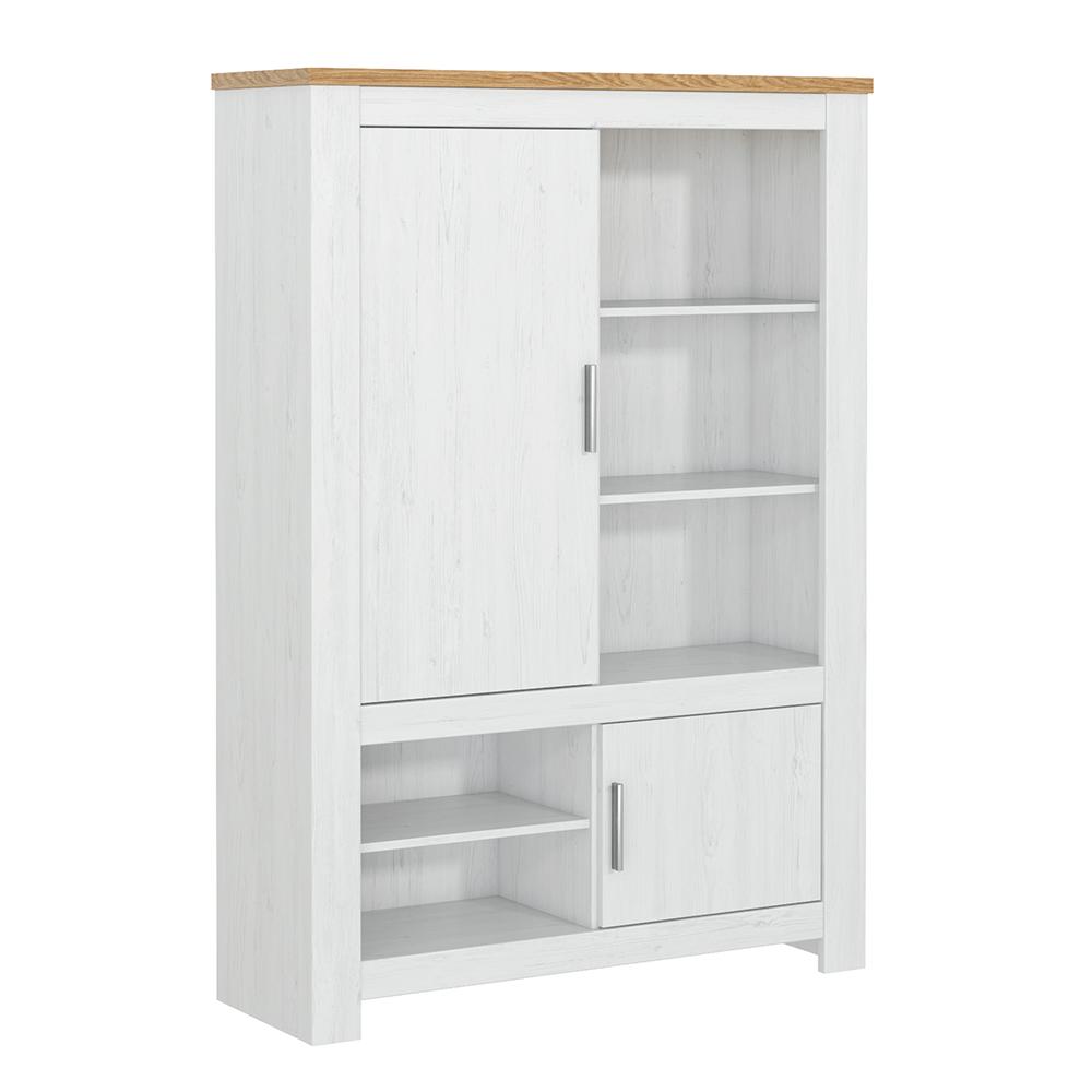 Vitrină, alb andersen /stejar bernstein, RENE 112