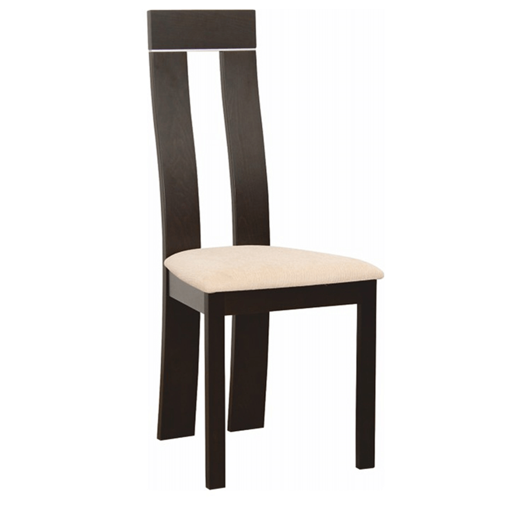 Dřevěná stolička, wenge/látka béžová magnolie, DESI NEW, TEMPO KONDELA