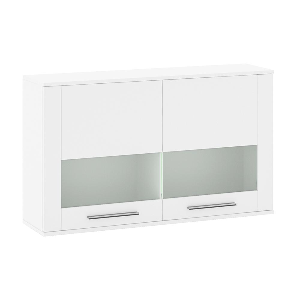 Závesná vitrína, biela extra vysoký lesk HG, KELEN E