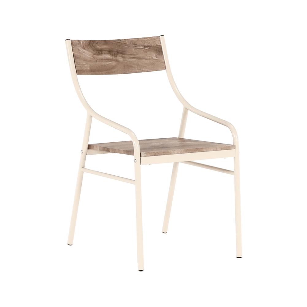 Set masa si 4 scaune din MDF si metal Kimby Stejar/Bej