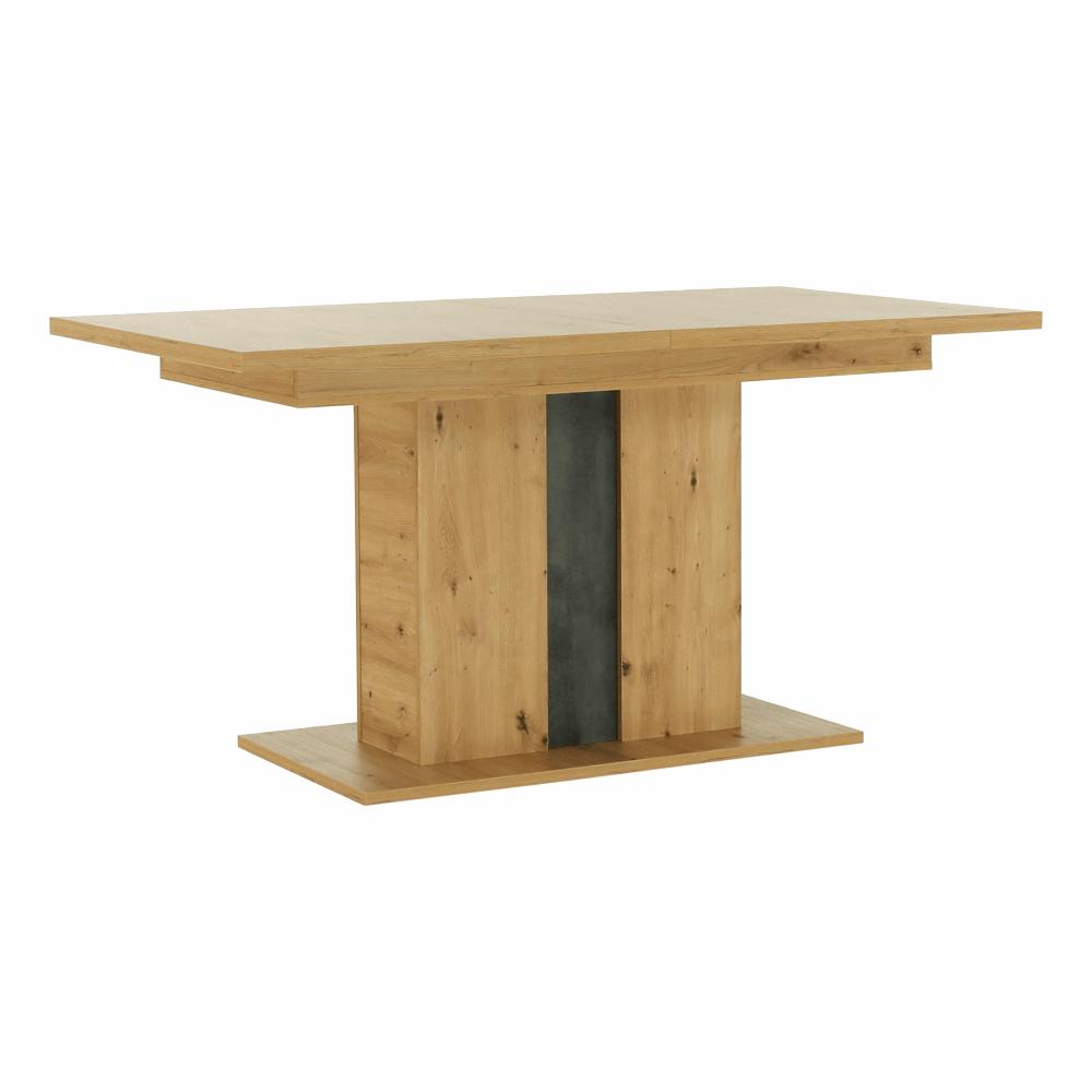 Jedálenský rozkladací stôl, dub artisan/sivý betón, ERIDAN