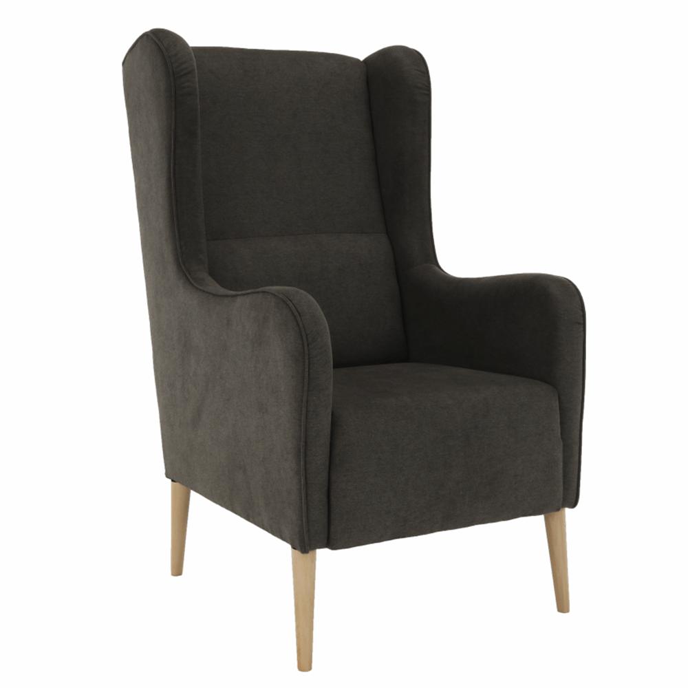 Kényelmes fotel, barna/bükk, BREDLY