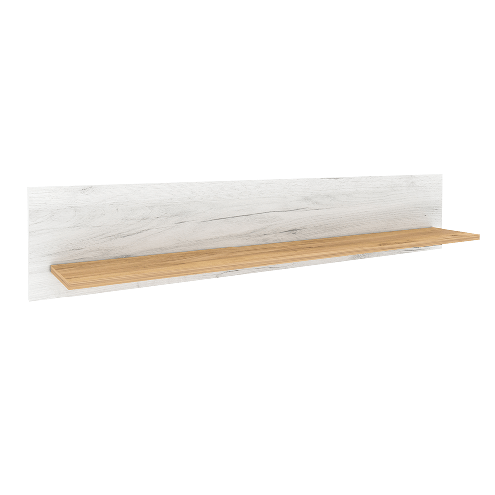 Poliţă I, stejar craft auriu / stejar craft alb, SUDBURY
