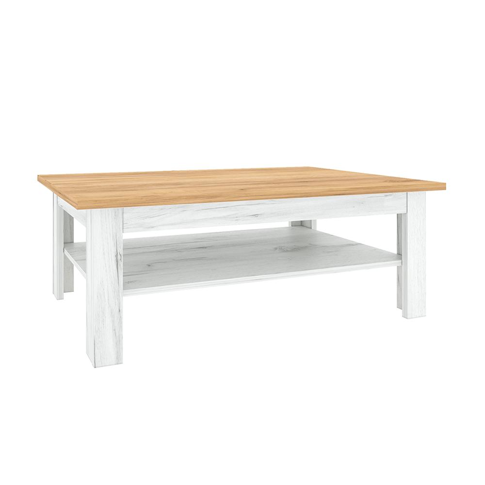 Konferenčný stolík T2, dub craft zlatý/dub craft biely, SUDBURY