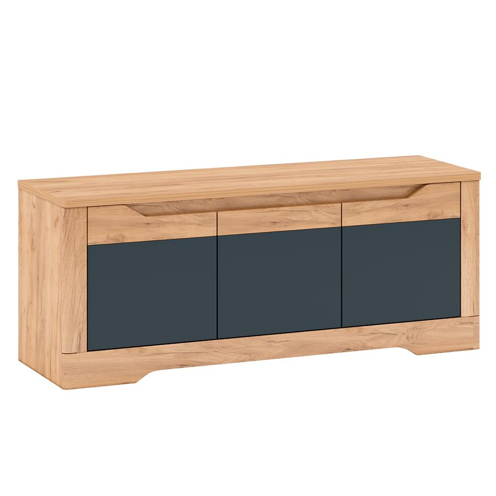 Măsuţă RTV J, stejar craft auriu / gri grafit, FIDEL