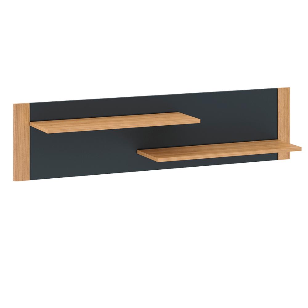 Poliţă D, stejar craft auriu / grafit gri, FIDEL