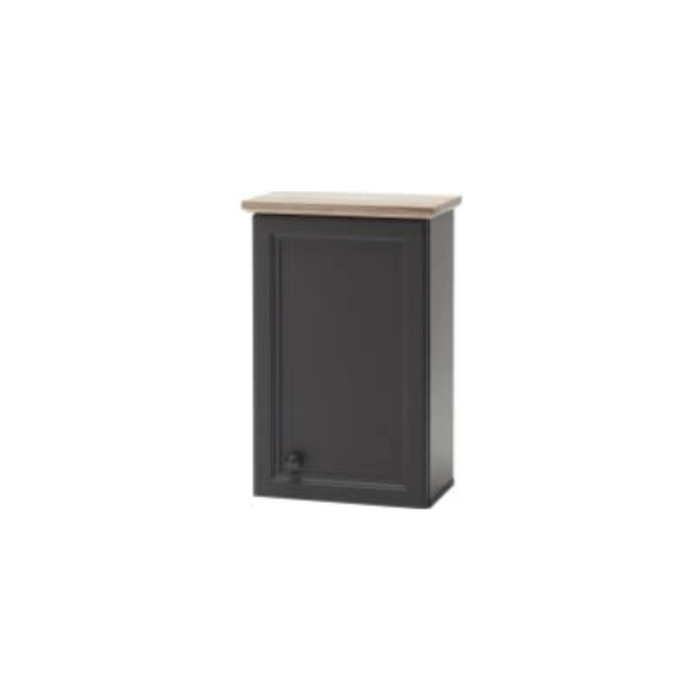 Závěsná skříňka, tmavě šedá/dub, TOSKANA