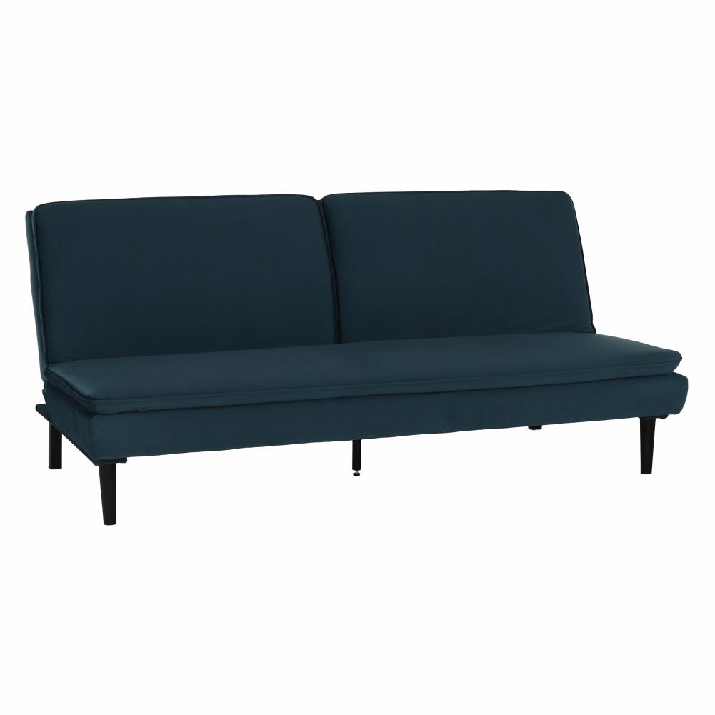 Canapea extensibilă, material textil Velvet albastru, BUFALA