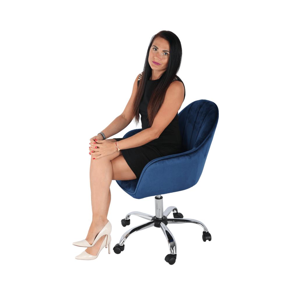 Scaun de birou Erol Albastru