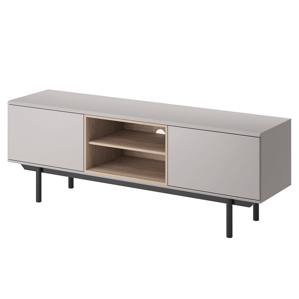 TV asztal IRTV 150, szürke/jackson hickory tölgy, INEM