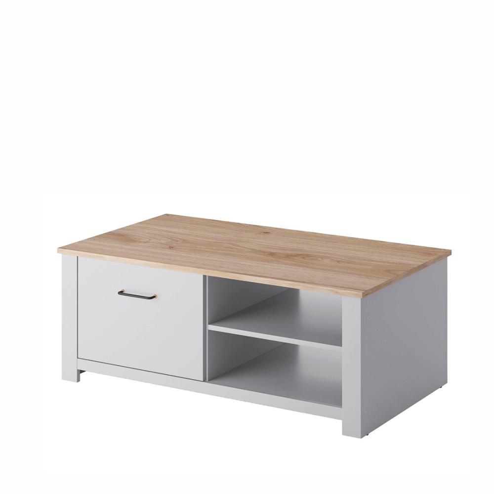 Konferenčný stolík GL115, svetlá sivá/dub jackson hickory, GRIS