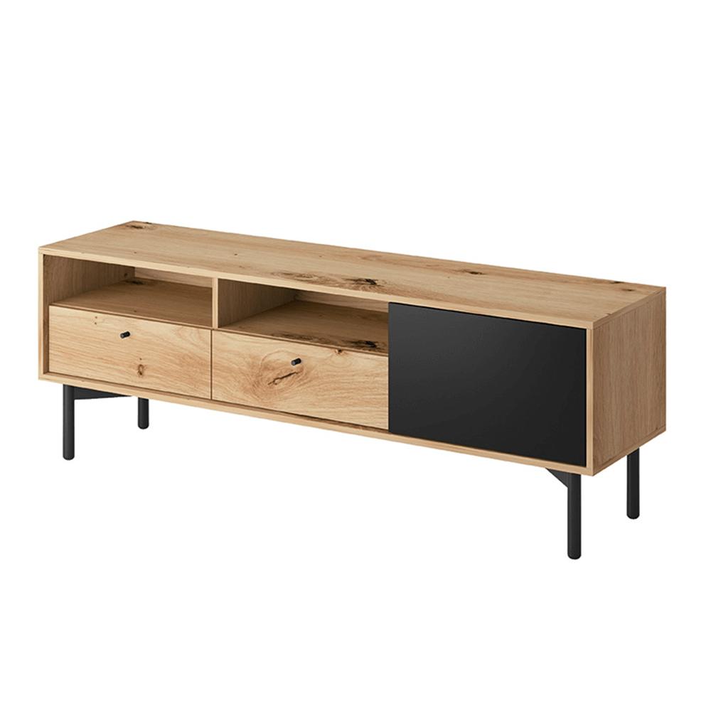 TV asztal FRTV 151, artisan tölgy/fekete, FORSO