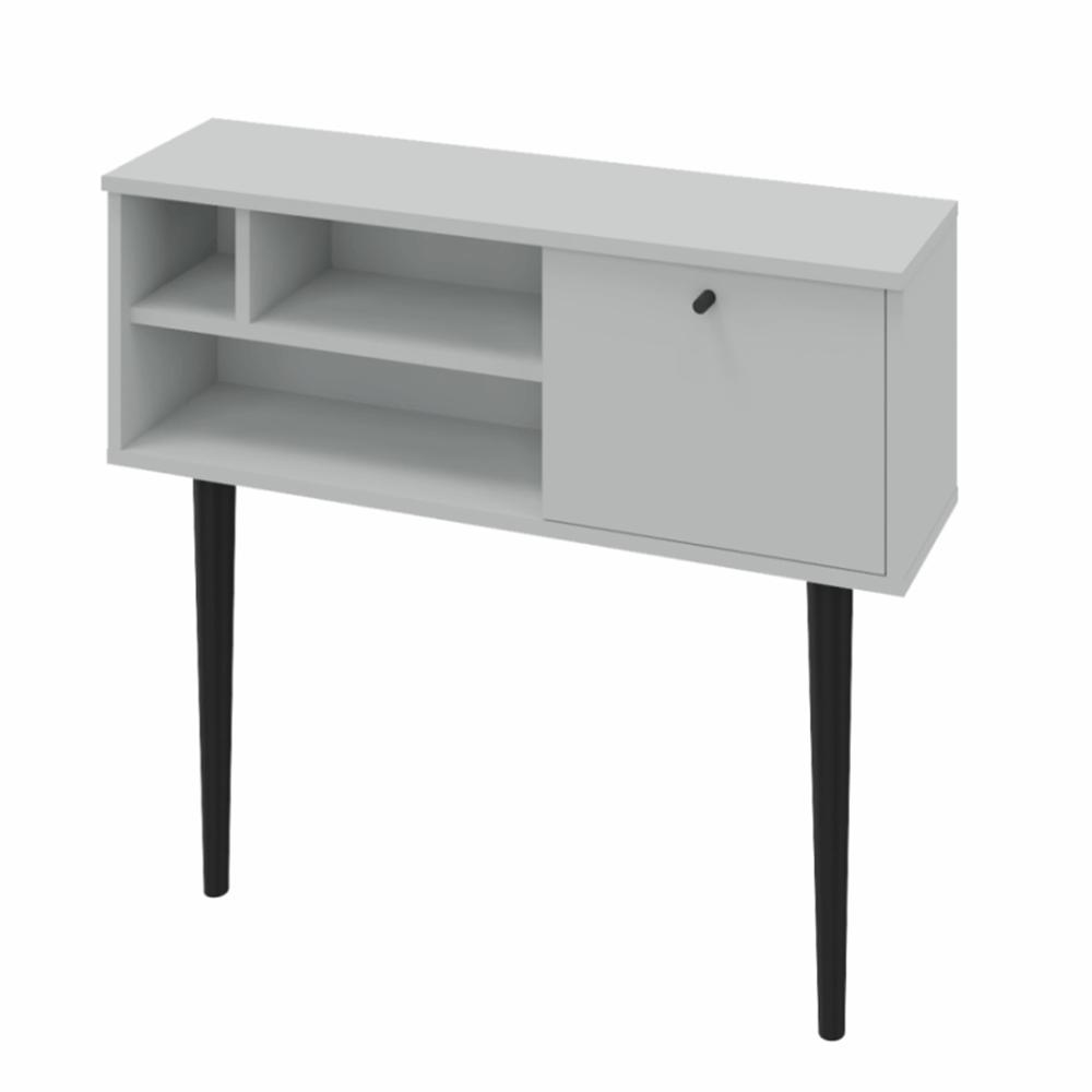Konzolový stolík, svetlosivá/čierna, DEMONT