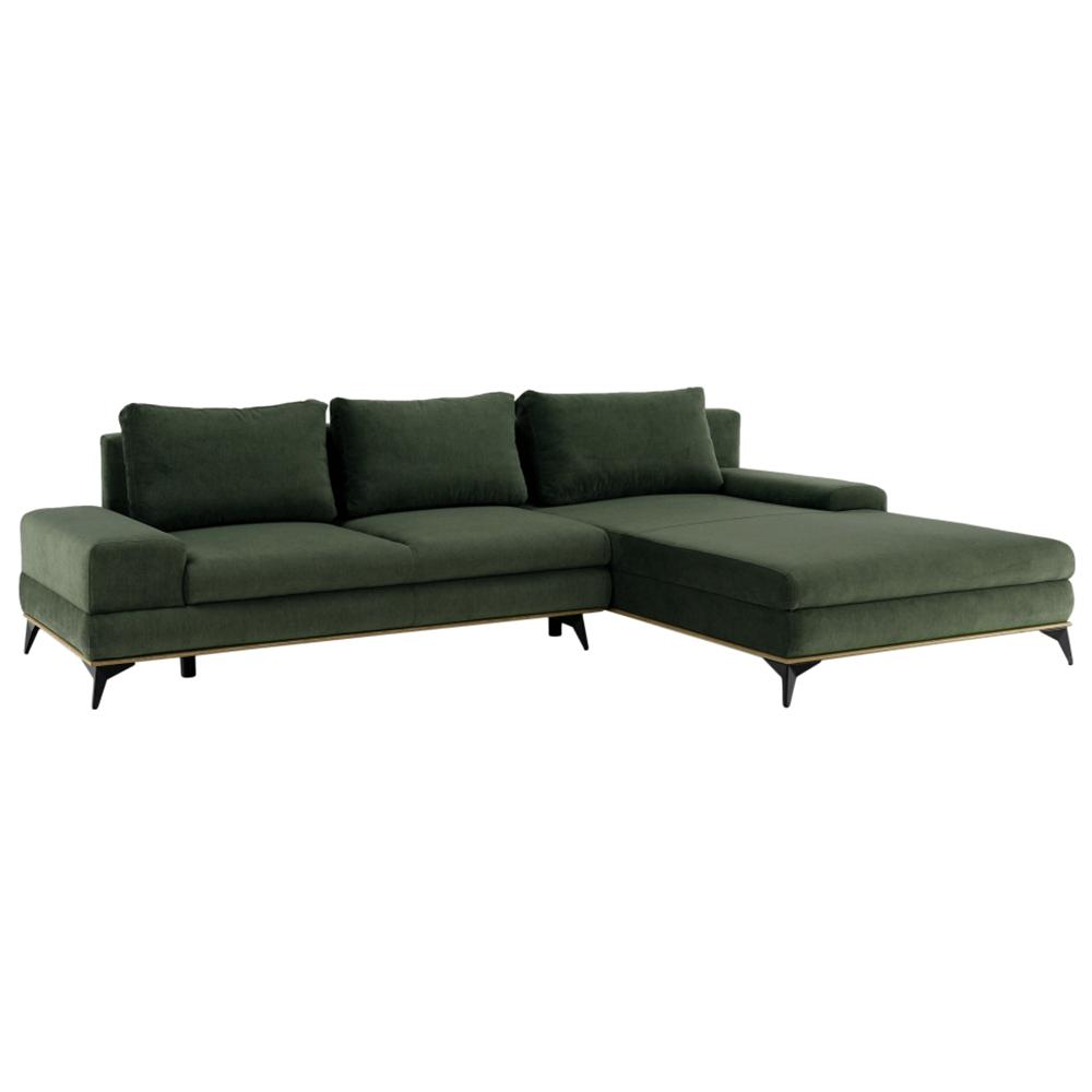 Canapea, verde, model dreapta, SELBY
