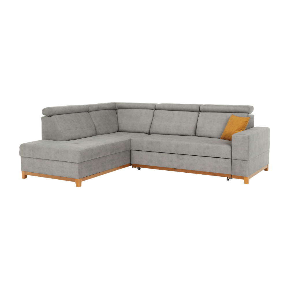 Canapea, gri deschis, model stânga, DRENA