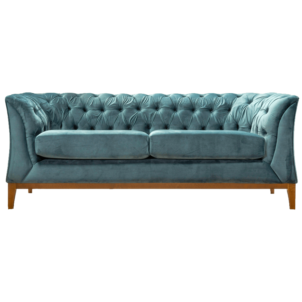 Canapea cu 2 locuri Powel Albastru