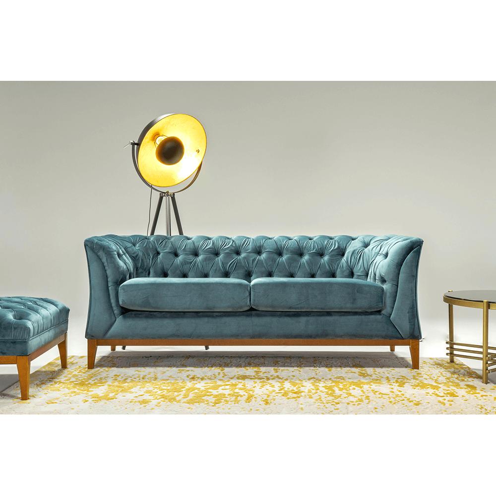 Canapea cu 2,5 locuri Powel Albastru
