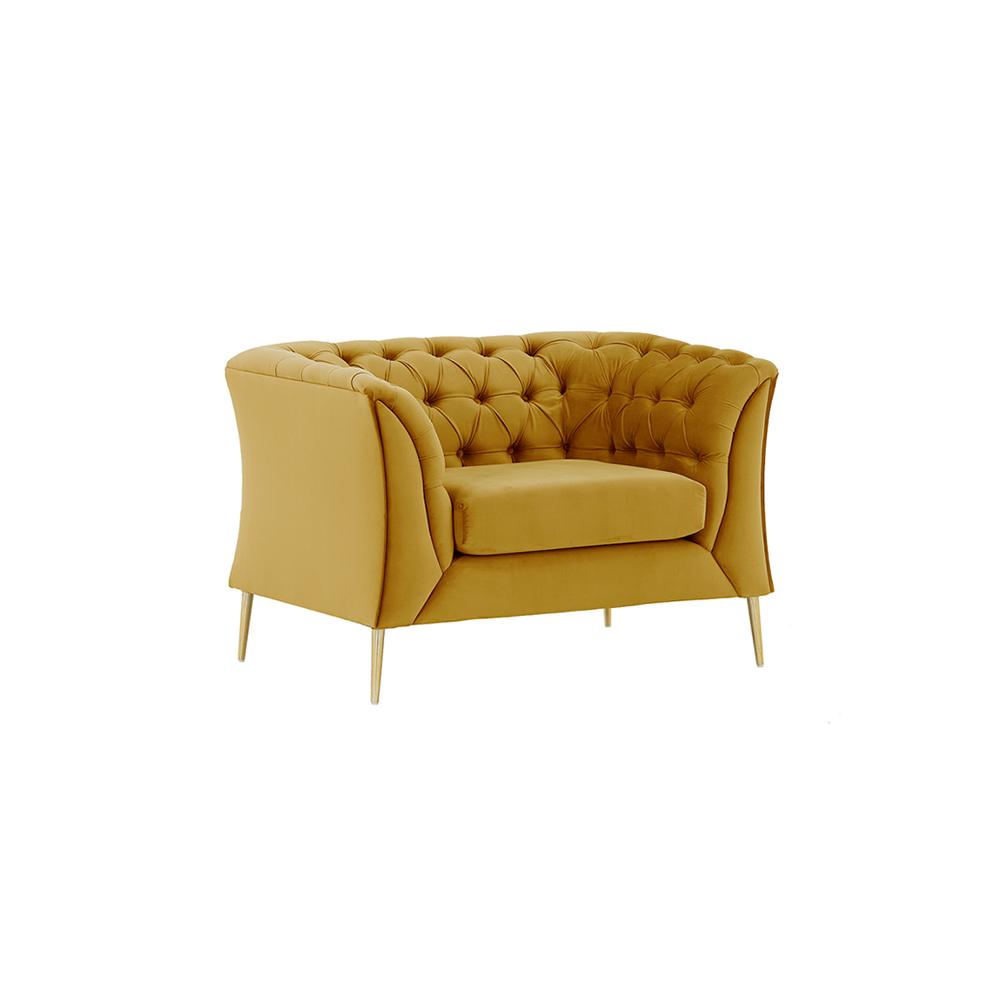 Luxus fotel, arany, NIKOL 1 ML