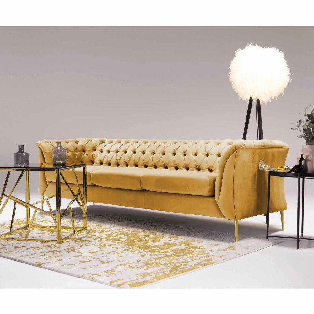 Canapea cu 3 locuri Nikol Galben
