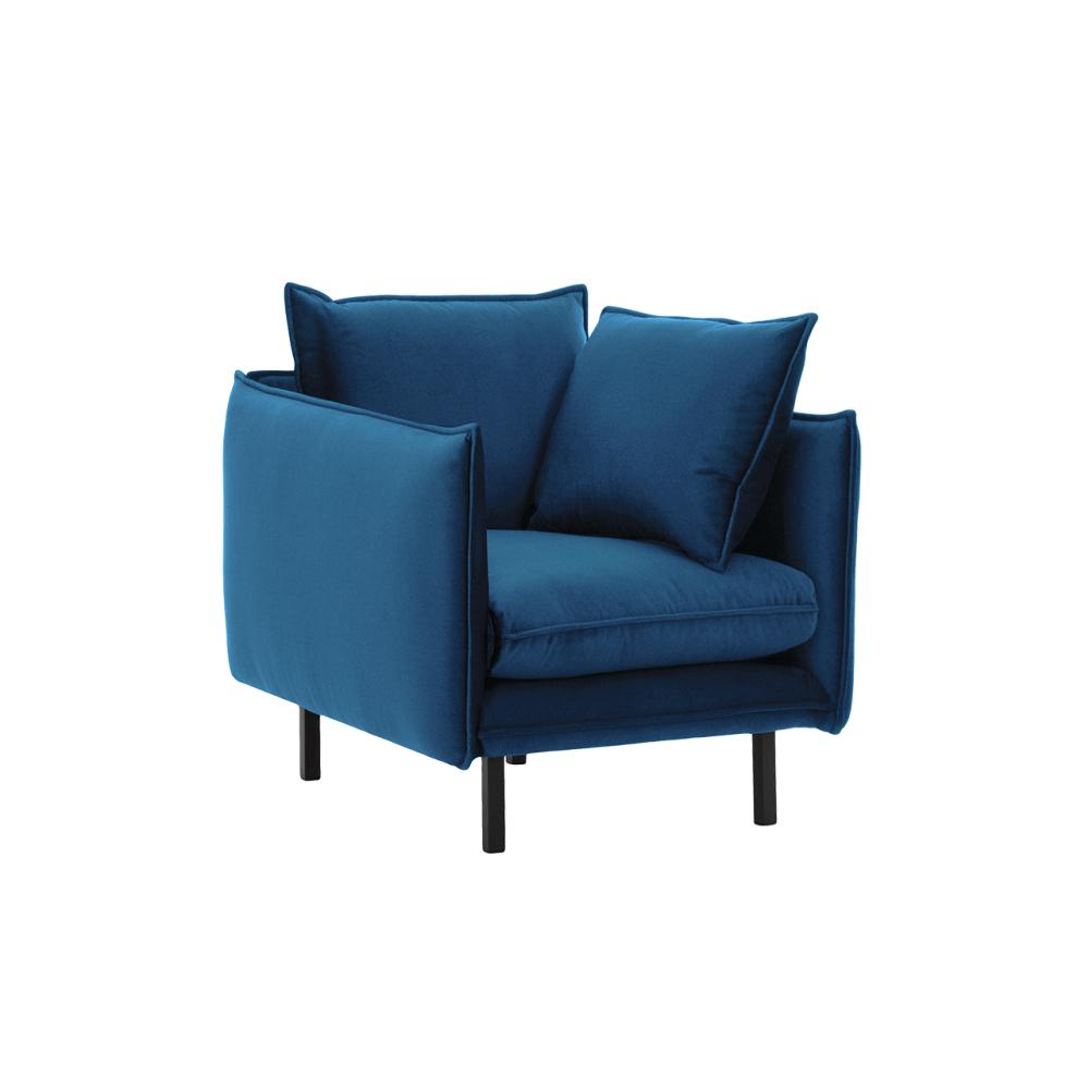 Luxus fotel, párizsi kék, VINSON 1